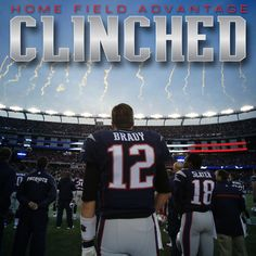 The Patriots have officially locked up the # 1 seed in the AFC & home field advantage throughout the playoffs!