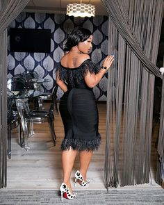 Image may contain: 1 person, standing, shoes and indoor Classy Dress, Classy Outfits, Chic Outfits, Fashion Outfits, African Wear Dresses, Latest African Fashion Dresses, All White Party Outfits, Lace Dress Black, Event Dresses
