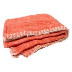 THR01552 Orange Mohair with Blanket Stitch Border