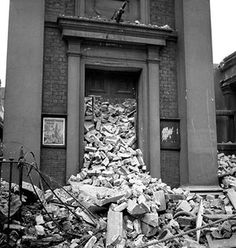 A bombed chapel, 1940 by Lee Miller