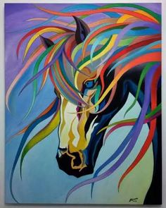 Oil painting Portrait Monochrome - Oil painting Ideas Step By Step - Oil painting Portrait Ideas - Colorful Animal Paintings, Indian Art Paintings, Abstract Horse Painting, Acrylic Painting Canvas, Canvas Art, Arte Pop, Ciel Pastel, Horse Drawings, Painting Still Life