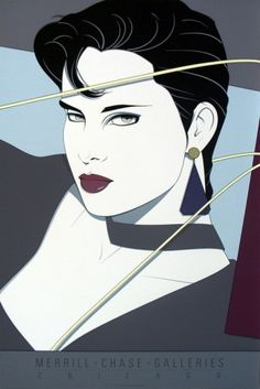 Patrick Nagel - I wanted to be this girl in the 80's. She's confident, sexual, fierce!