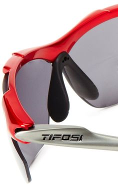 brand new 9122c 4e60e Amazon.com  Tifosi T Sport Sunglasses,Gloss Black Frame Smoke W  Red Glare  Guard, Ac Red, Clear Lens,one size  Clothing