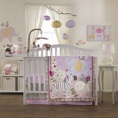 Cute Surina Baby Beddings, Baby Quilt, 4 Piece Crib Set, Blankie and accessories from Lolli Living.