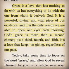 Grace of God.