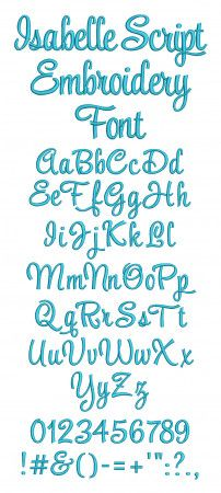 Isabelle Script Embroidery Font
