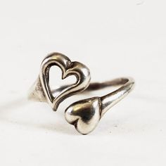 Vintage Sterling Silver Small Heart Adjustable Wrap by Spoonier, $21.00