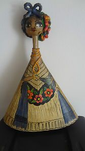 Papier Mache Woman Vintage FOK Art Signed A Zamora C Mexico Veracruz | eBay