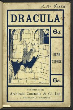 Dracula by Bram Stoker, illustrated by Nathan, it's the first illustrated edition. Published by Archibald Constable & Co. Ltd, London, 1901 Dracula, Illustrations And Posters, Gothic Horror, Bram Stoker, Vintage Illustration Art, History Pictures, Vampire, Nosferatu, Dracula Book