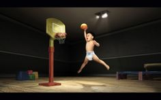 Funny Basketball Baby - Funny Sports Pictures And Photos funny gif funny girls funny gif funny girls funny hilarious funny humor funny memes funny moments legends Funny Baby Photos, Crazy Funny Pictures, Funny Sports Pictures, Basketball Baby, Basketball Legends, Baby Hamper, Funny Memes, Hilarious, Sports Humor