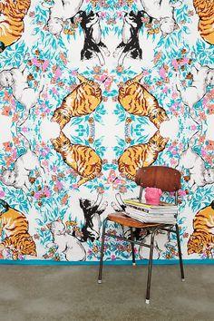 Cat Kaleidoscope Tapestry Throw