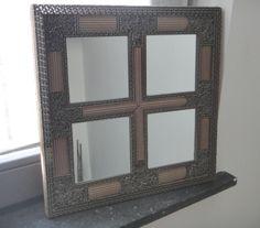 miroir art déco en carton ondulé