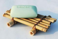 Recycled Bamboo Soap Tray, Eco Earth Friendly Kitchen or Bath Soap Dish, Tropical Coastal Bathroom Decor