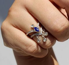 2 jolis bagues avec Lapis Lazulis, Onojewelry.