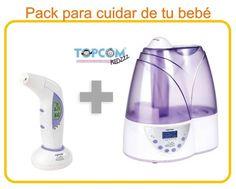 Humidificador Topcom 1801 y termómetro digital 5 en 1 Forehead 301