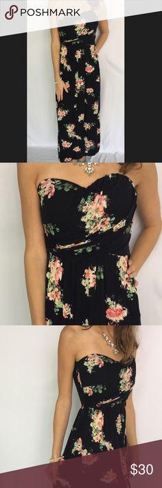 Half sheer black maxi dress