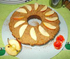 Receitas de cozinha: Bolo de aveia com maçã e ameixa