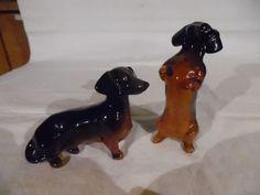 Vintage Pair Of Ceramic Dachshund Weenie Dogs Beswick