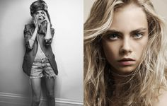Cara Delevingne, British model. I saw a pic of her as a 12-year-old once & thought, that's an interesting girl!