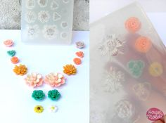 House of Molds·    Tania wanted to make this mold for very long time:D finally we have a multi flowers mold so she can happily make her vintage necklace :D http://www.houseofmolds.com/collections/new-molds/products/flowers-set-clear-silicone-mold-14-cavityes-7-flowers-styles-for-earrings-pendants-making-stunning-results-in-one-pour #resinflowers #colliermaking #happyweekend #resinmold #vintage necklace #cocktailjewelry #iloveresin #sunnydays #60sjewelry #oldstylere