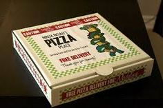 ninja turtle birthday - pizza box labels