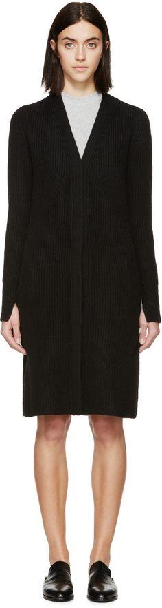 3.1 PHILLIP LIM Black Ribbed Raglan Cardigan. #3.1philliplim #cloth #cardigan