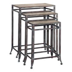 Powell Driftwood Set of 3 Nesting Tables - Accent Tables at Hayneedle