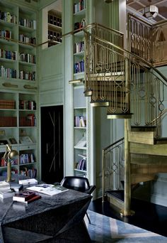 gold spiral staircase