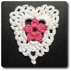 crochet heart - no chart, but good pictures, shouldn't be hard