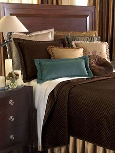 The Lucerne Solid Velvet Bedding Collection is lush and decadent.