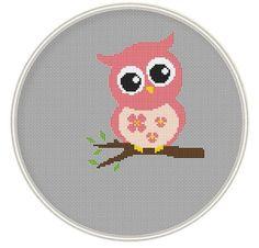 Cute Pink Owl, cross stitch pattern Source by rabotaundefined Kawaii Cross Stitch, Cross Stitch Owl, Cross Stitch Fabric, Cross Stitch Animals, Cross Stitching, Cross Stitch Embroidery, Modern Cross Stitch Patterns, Counted Cross Stitch Patterns, Cross Stitch Designs