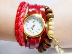 Relógio Feminino Vintage Red produzido por pmalafaia76 no AIRU
