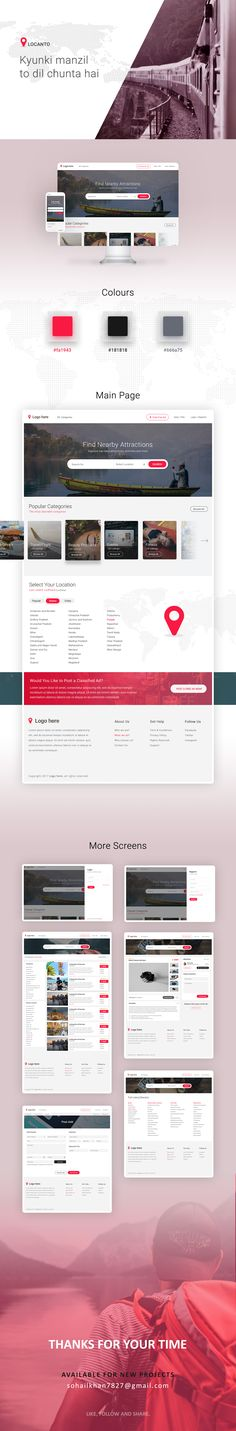 """Check out my @Behance project: """"Locanto   Website UI/UX Concept"""" https://www.behance.net/gallery/59717419/Locanto-Website-UIUX-Concept"""