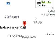 Split, 21000, Croatie vers Budislavićeva ul. 12, 21220, Trogir, Croatie–GoogleMaps