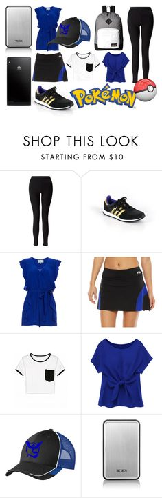 """""""Pokemon Go Team Mystic!"""" by fyrhp ❤ liked on Polyvore featuring Miss Selfridge, adidas, Fila, Tumi, Huawei and JanSport"""