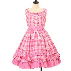 Worldwide shipping available ♪ Angelic Pretty ☆ ·. . · ° ☆ fairy tale tartan ruffle jumper skirt https://www.wunderwelt.jp/products/w-09718  IOS application ☆ Alice Holic ☆ release Japanese: https://aliceholic.com/ English: http://en.aliceholic.com/