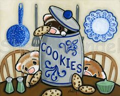 cookies and ferrets= my loves I want