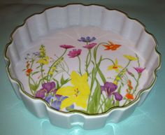Vintage Seymour Mann Inc Day Lily Dish Colorful Beautiful 1970s