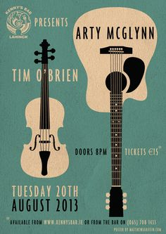 Kenny's Gig Posters by Matthew Griffin, via Behance