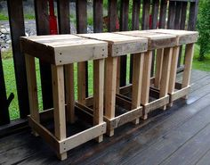 Wood Pallet Bar Stools Furniture Plans 67 Ideas For 2019 Pallet Bar Stools, Wood Pallet Bar, Diy Pallet Sofa, Wooden Pallet Furniture, Diy Pallet Projects, Wooden Pallets, Rustic Furniture, Pallet Ideas, Pallet Tables