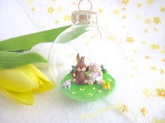 Easter bunny and lamd decoration Schaf und Hase Oster Dekoration