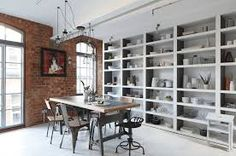 Today we present you some decor ideas to get an Industrial Dining Room Design. See our amazing gallery and be inspired for your interior design projects! What Is Industrial Design, Industrial Interior Design, Industrial Dining, Industrial Style, Industrial Apartment, Vintage Industrial, Luxury Interior, Industrial Homes, Industrial Decorating