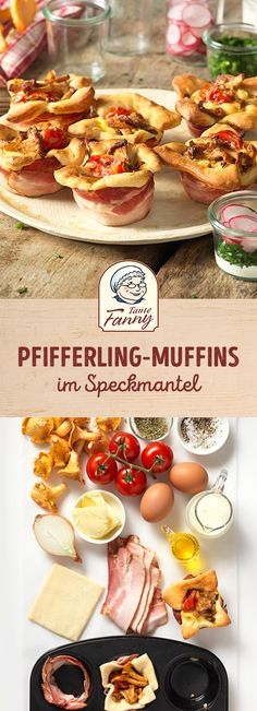 Du fragst dich wie Pfifferlinge (Eierschwammerl) und Pizza zusammenpassen? Wir verraten es dir in unserem Rezept für Pfifferling-Muffins im Speckmantel. Appetizer Dips, Quiche, Tapas, Brunch, Snacks, Breakfast, Recipes, Videos, Corona