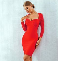 Aspen Lace Bandage Dress