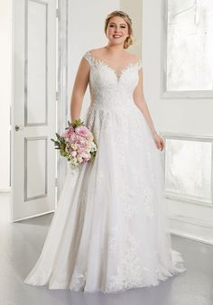 Plus Size Wedding Dresses: Julietta Collection | Morilee Wedding Dresses Photos, Bridal Wedding Dresses, Wedding Dress Styles, Bridesmaid Dresses, Best Wedding Dress Designers, Designer Wedding Dresses, Tulle Ball Gown, Ball Gowns, Dress Picture
