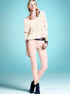 Corduroy Mid-rise Siren. love the light pink pant