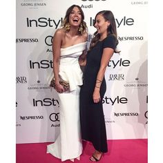 About last night. Smiles all round for @juliestevanja of @stylerunner in her white #vigilante #gown #womenofstyleawards @instylemag #maticevski Xx #Padgram
