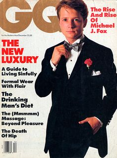 Magazine photos featuring GQ Magazine [United States] (December on the cover. GQ Magazine [United States] (December magazine cover photos, back issues and newstand editions. Gq Magazine Covers, Spin City, Groomsmen Fashion, Michael J Fox, Marty Mcfly, All Souls, Gq Men, American Actors, American Psycho