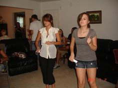 Randi and Jordan playing Michael Jackson's Wii dance game.  Blakely got her groove on too!  July 2011