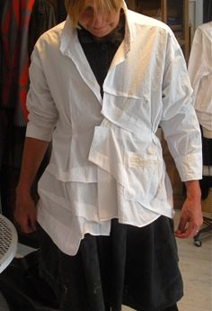 upcyled white shirt